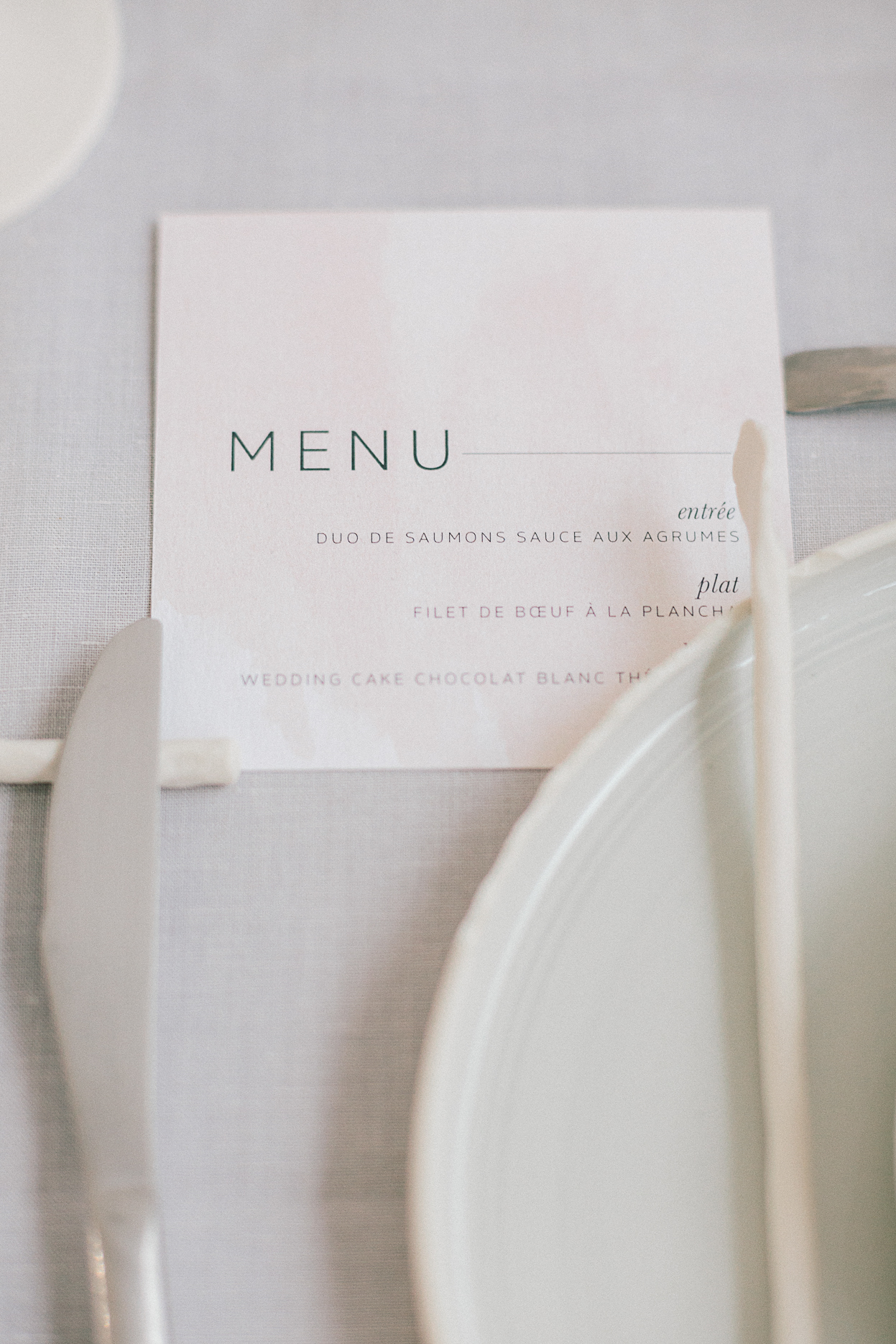 menu moderne aquarelle papeterie mariage romantique minimaliste industriel