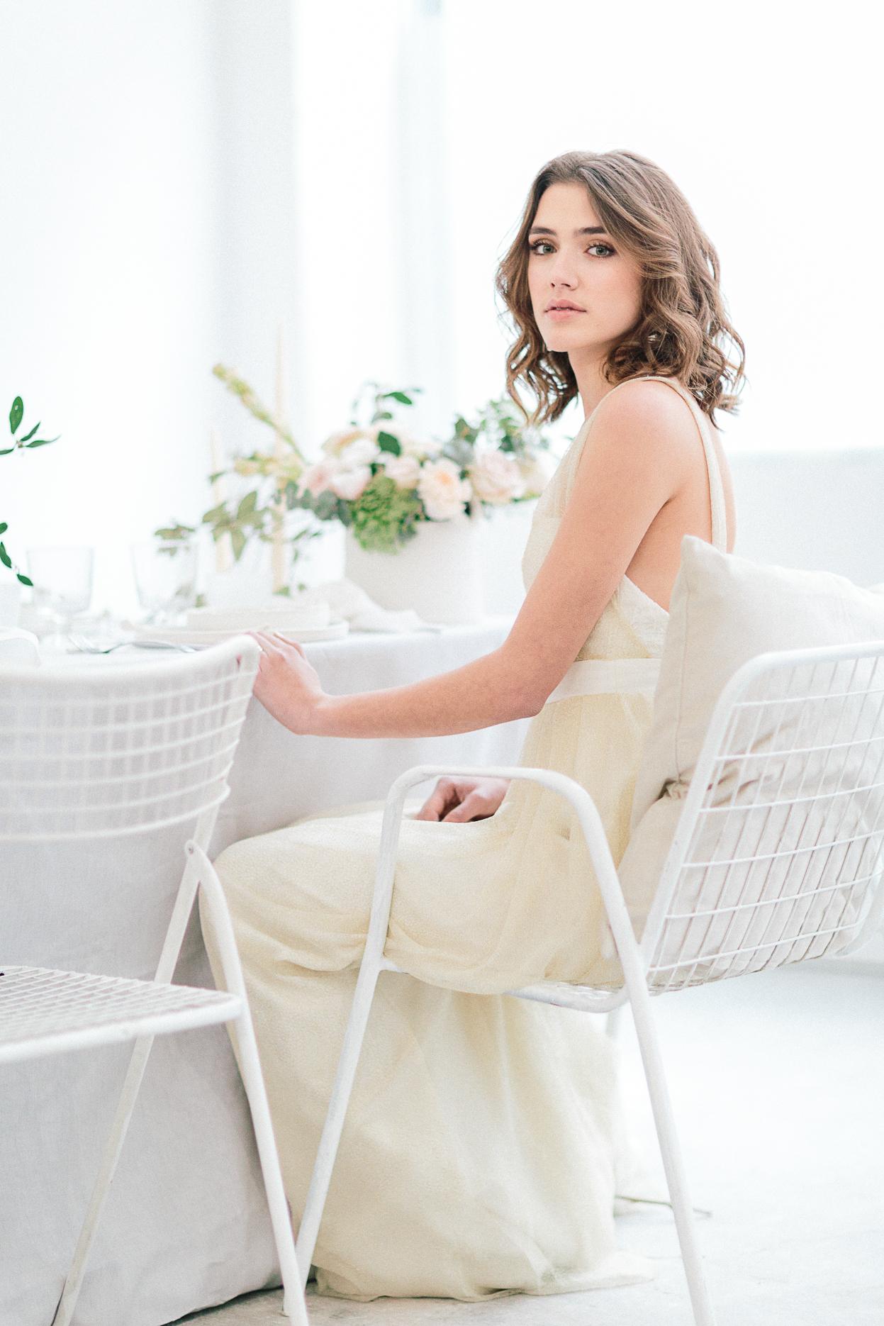 decoration table mariage romantique minimalsite et industriel chaide moderne