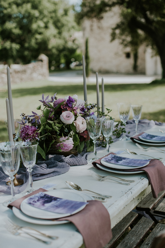 decotaion table mariage blush plum et nude domaien de patras chic