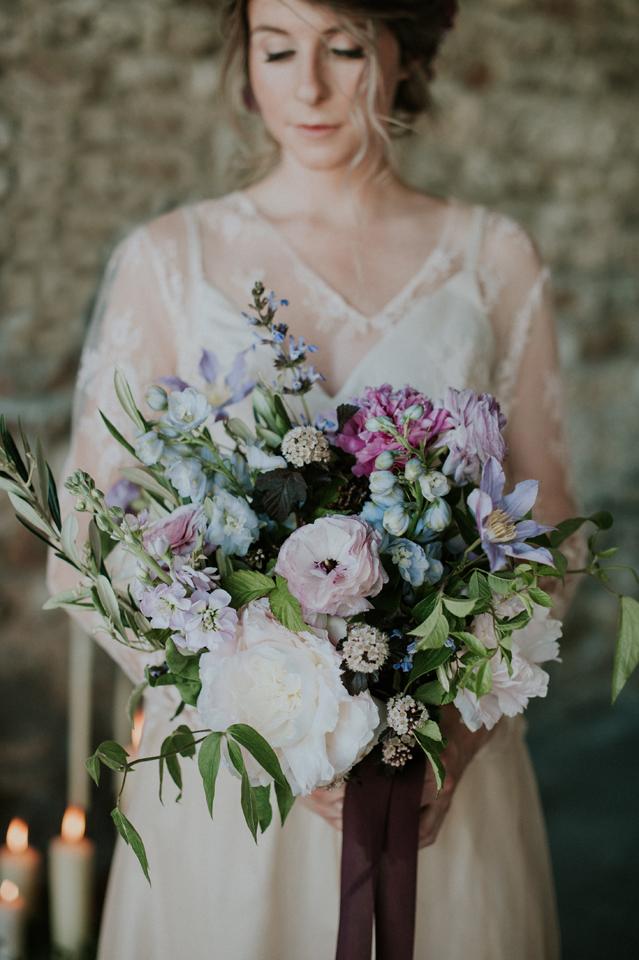 bouquet mariage blush plum nude inspiration domaien de patras