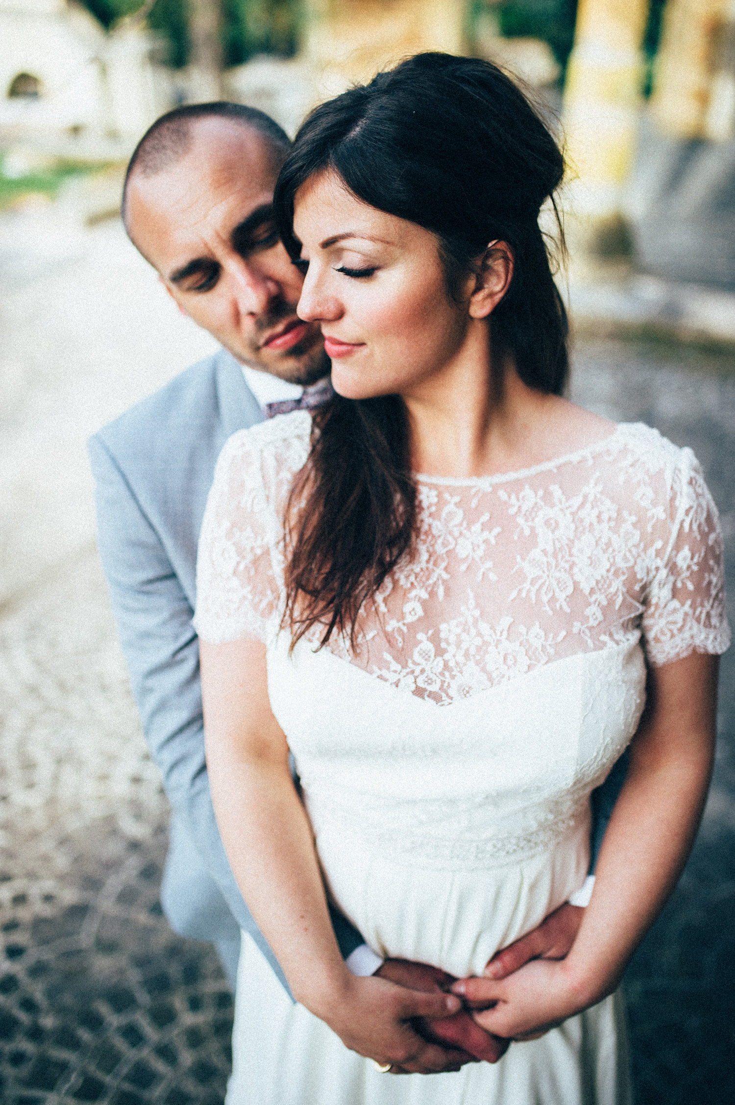 inspiration mariage pourpre beaujolais photo de couple