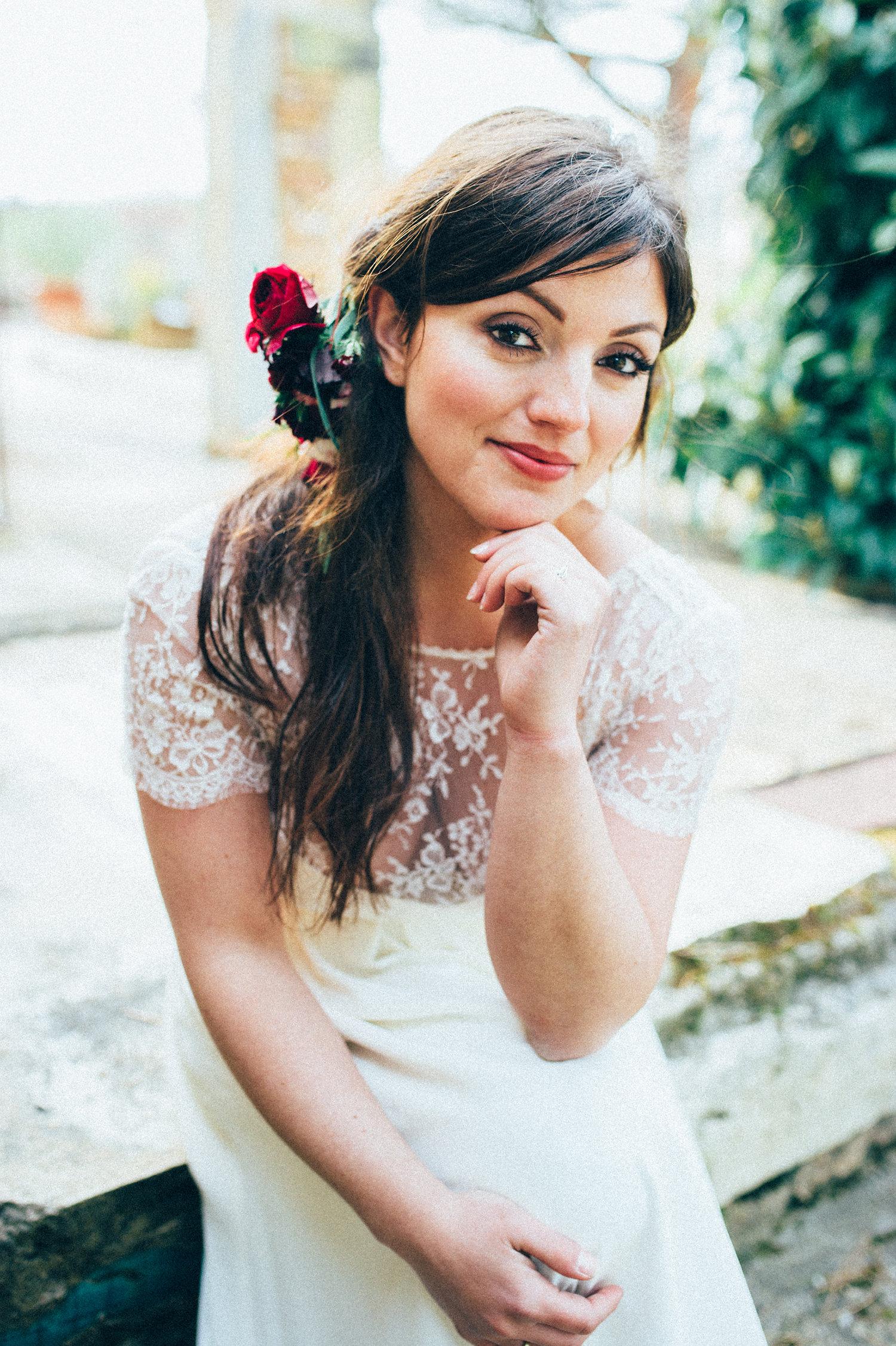 inspiration mariage mariée coiffure fleurs