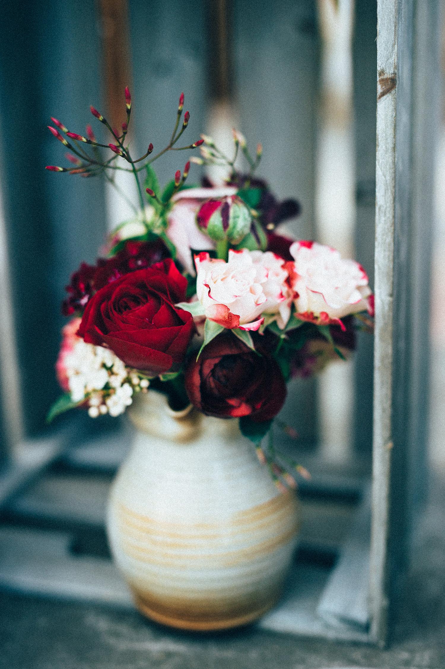 inspiration mariage beaujolais bouquet fleurs rose pourpre