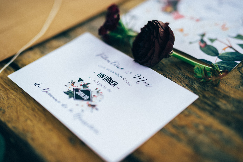 inspiration mariage carton dîner jardin botanique