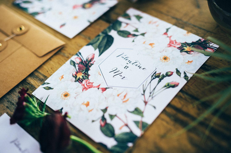 inspiration faire-part mariage jardin botanique