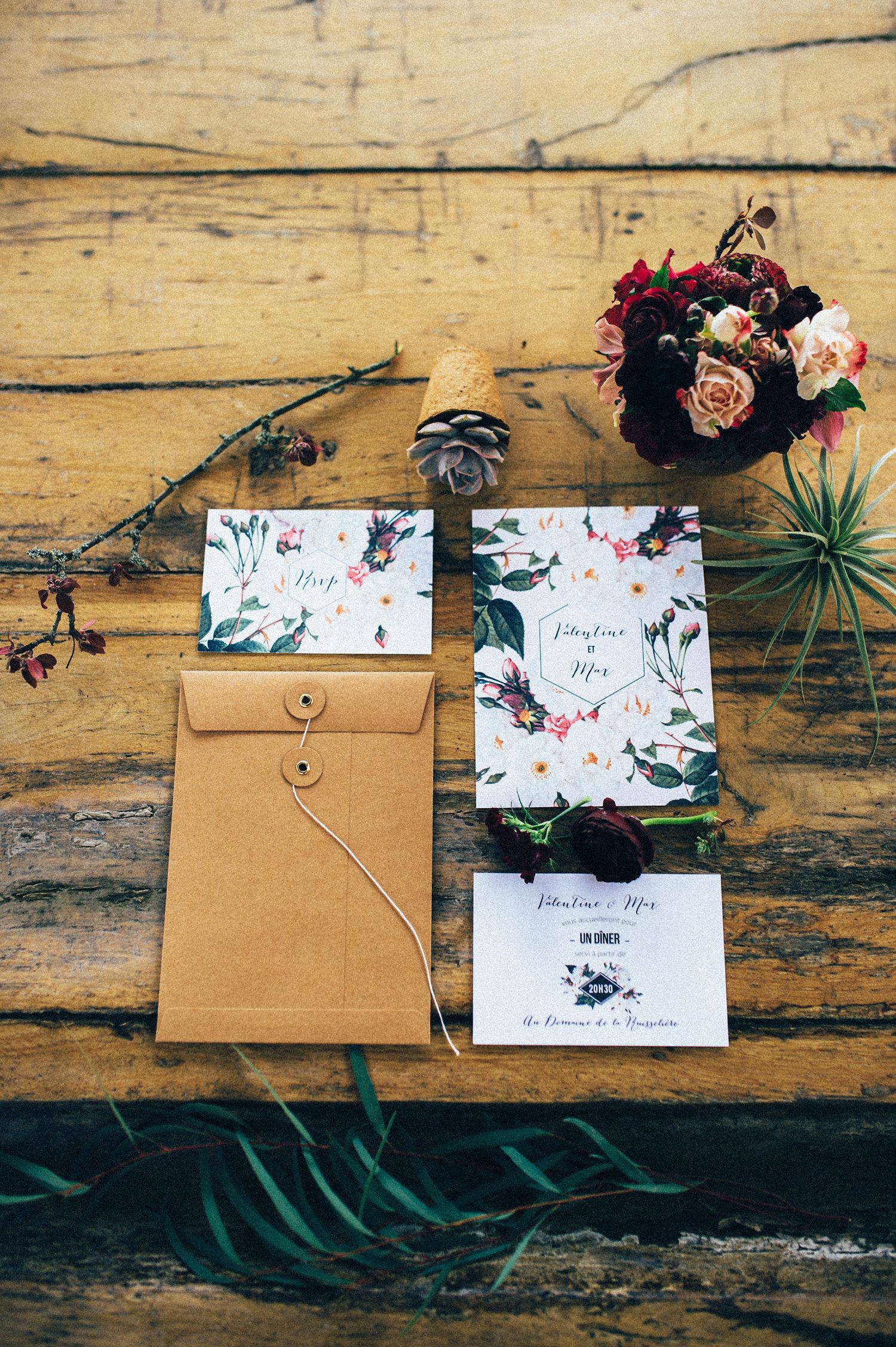 inspiration mariage faire-part et invitation collection jardin botanqiue