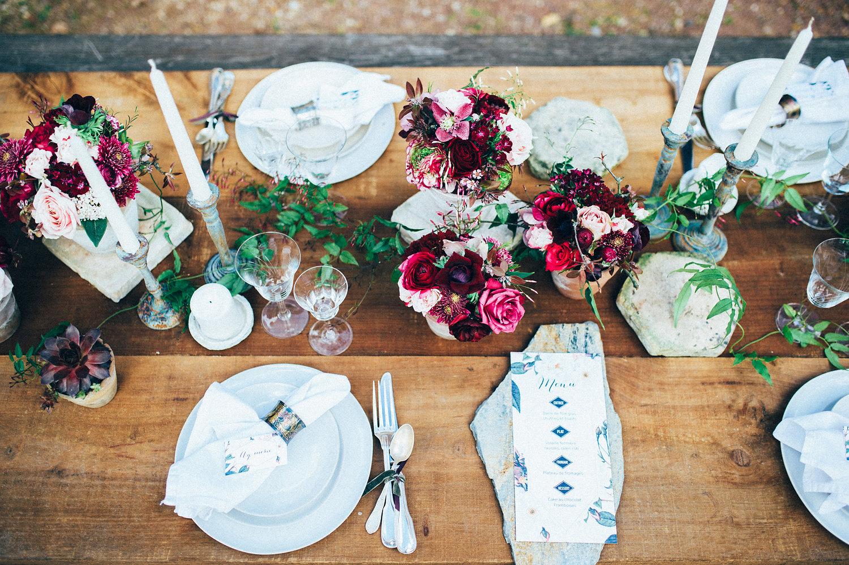 inspiration mariage table decoration menu jardin botanique papeterie
