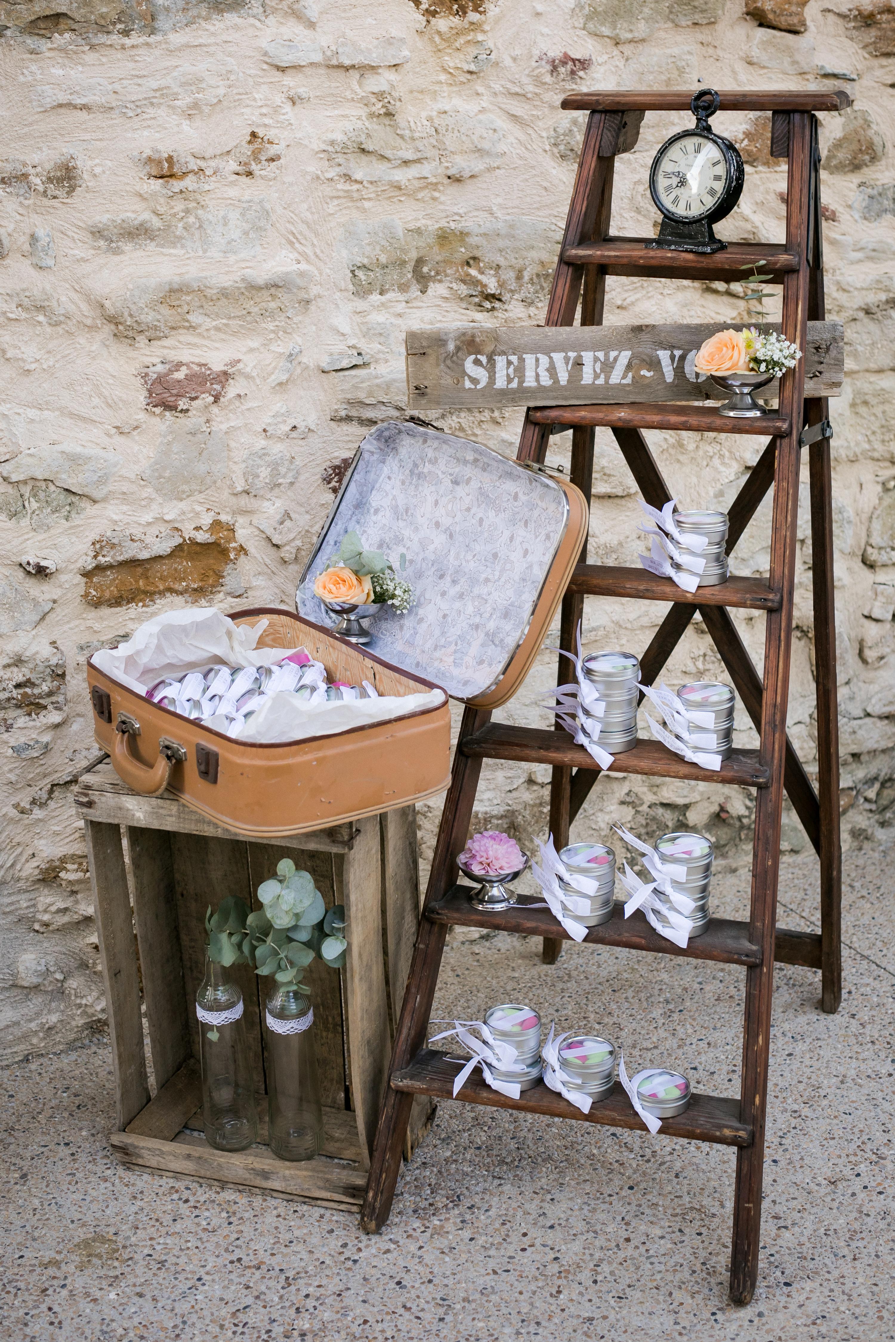 mariage pastel vintage clos de tuillier provence cadeaux d'invités