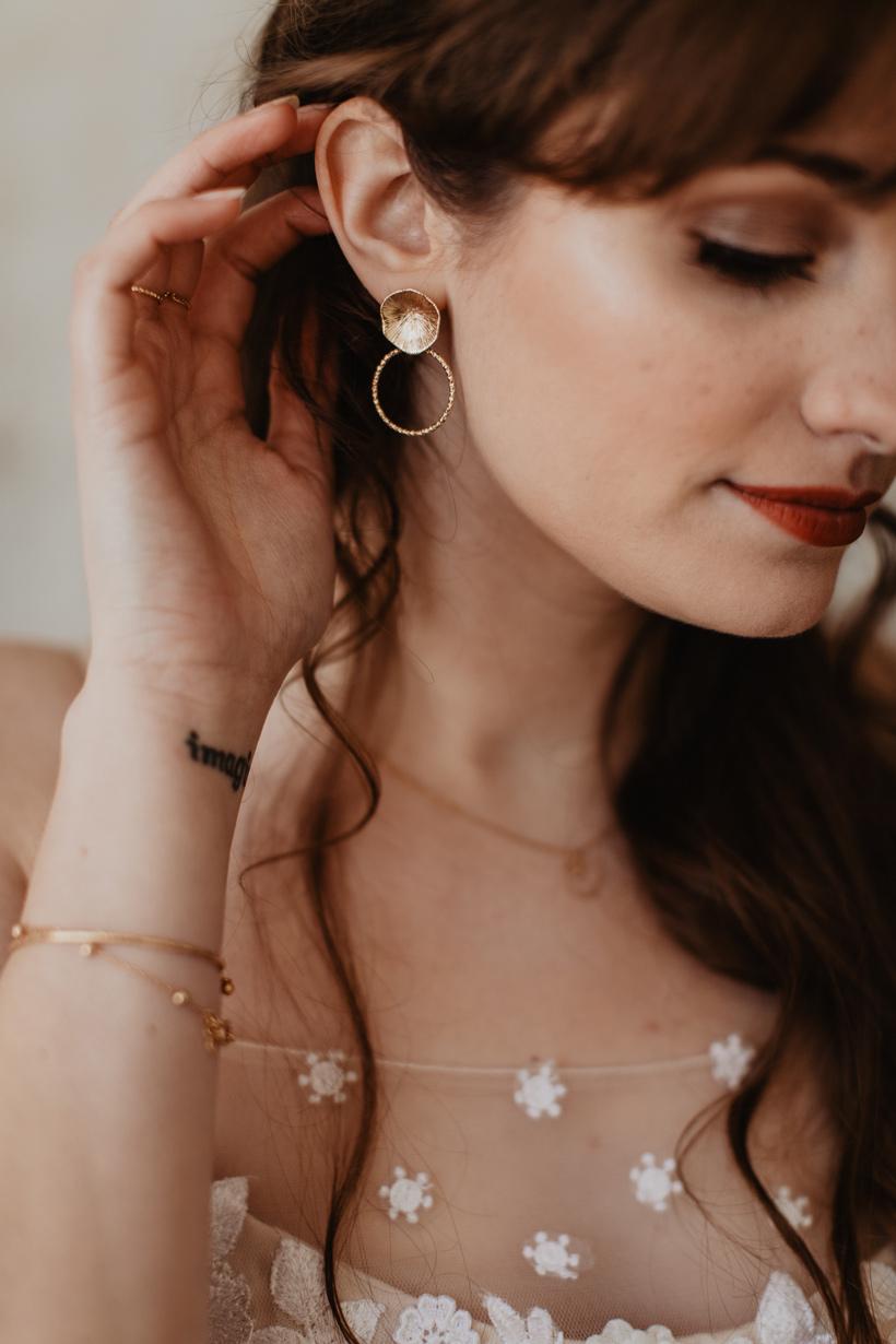 boucle d'oreille bijou mariage terracotta
