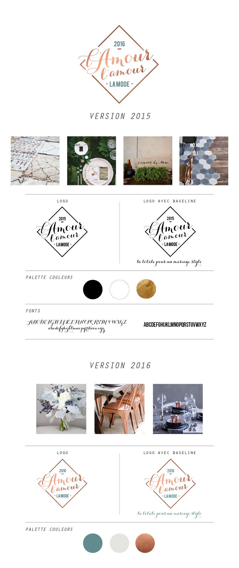 Graphisme création de l'identité visuelle du Salon l'amour l'amour la mode
