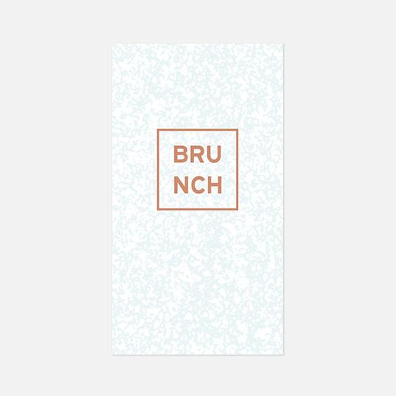 Brunch  géometrique, papeterie Papier marbre recto