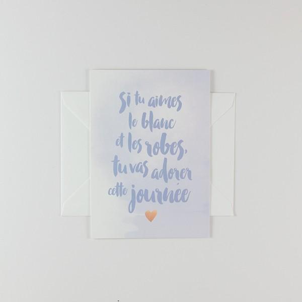 Top Carte de demande en témoin en mariage sur papier épais TT17
