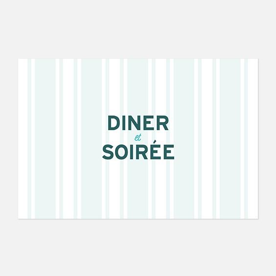 Carton dinner  fleur, papeterie Dame-Jeanne recto