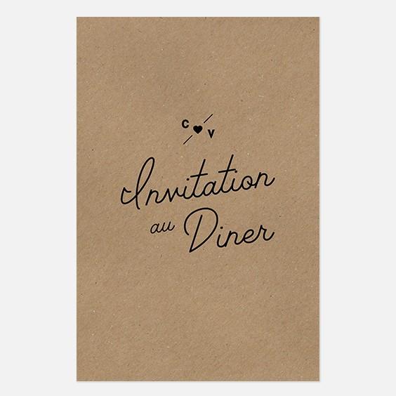 Carton dinner  industriel, papeterie Indus recto