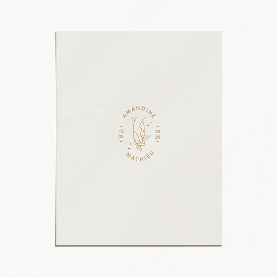 faire-part de mariage celestine monogramme main mariés avec prénoms style minimaliste recto