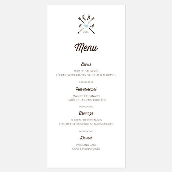 menu de mariage kraft hiver douceur scandinave. Black Bedroom Furniture Sets. Home Design Ideas