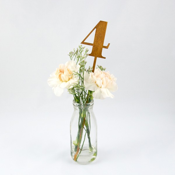 Numéro de table, chiffre découpés, laser, bois
