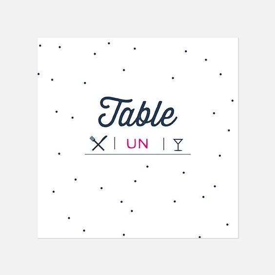 Numero de table  graphique, papeterie Des petits pois recto
