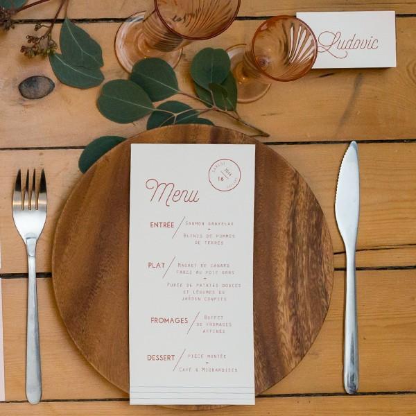 Pack d'échantillons de papeterie de mariage, reception, menu