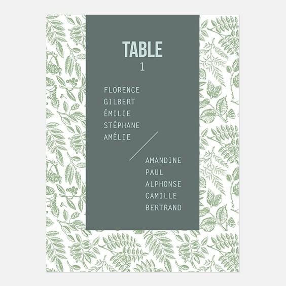 Plan de table de mariage bois, papeterie Folk & wood en bois recto