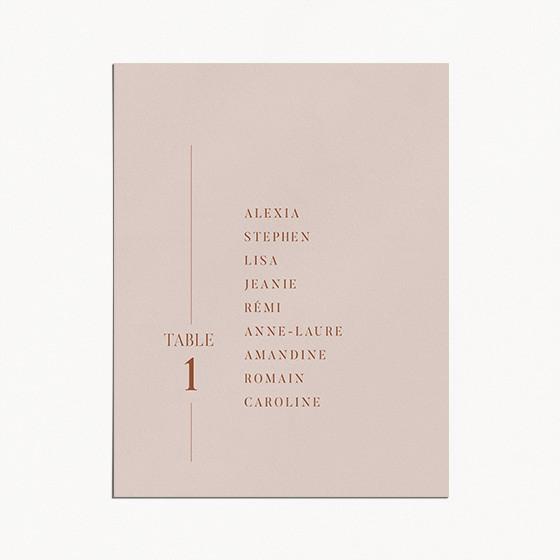 plan de table de mariage, terracotta, blush, moderne, minimaliste recto