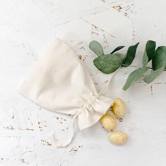 pochette pochon coton 9 x 12 pour cadeaux d'invité mariage