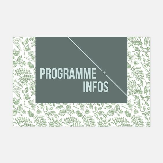 Programme de mariage bois, papeterie Folk & wood en bois recto