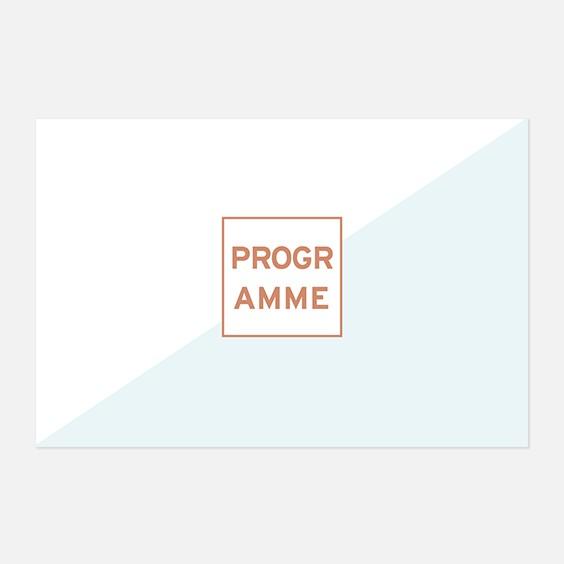 Programme de mariage géometrique, papeterie Papier marbre recto