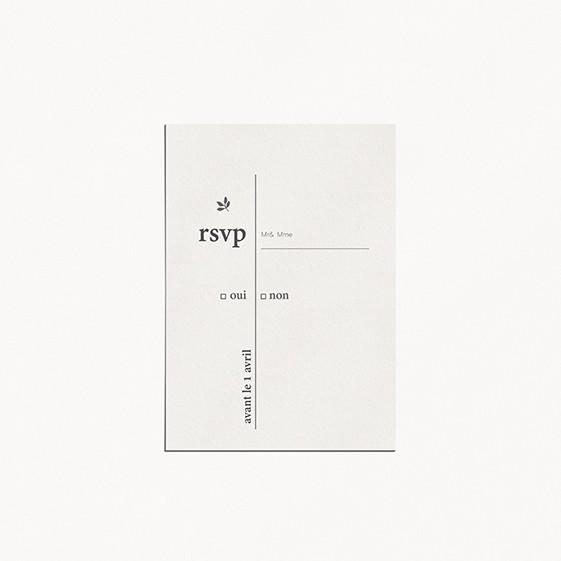 RSVP de mariage minimalist mariage minimaliste moderne épuré