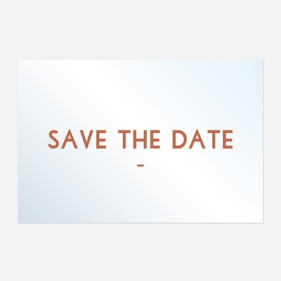 Save the date de mariage cuivre, chic, papeterie Copper recto