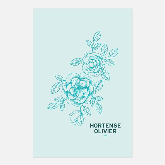 Save the date de mariage fleur, papeterie Dame-Jeanne recto