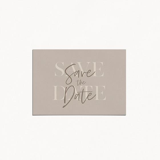 save the date de mariage gulia jeux typographique et tons naturels recto