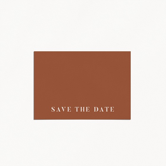 save the date de mariage, terracotta, blush, moderne, minimaliste recto