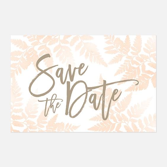 Save the date de mariage végétal, naturel, papeterie Organic recto