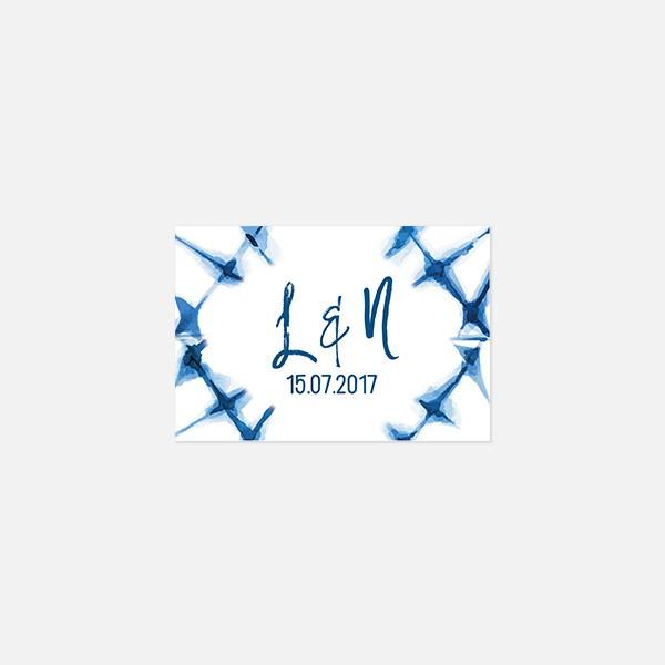 Visuel pour timbre graphique, voyage, papeterie Bleu Cyclades verso