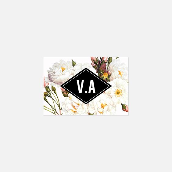 Visuel pour timbre  fleur, papeterie Jardin botanique recto