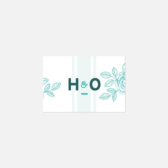 Visuel pour timbre  fleur, papeterie Dame-Jeanne recto