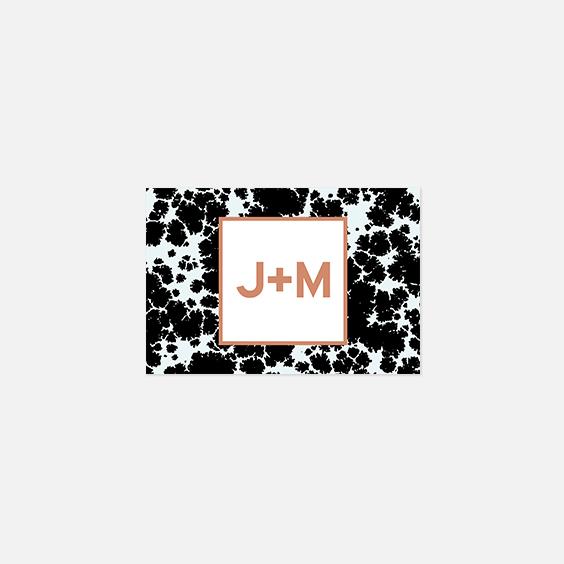 Visuel pour timbre  géometrique, papeterie Papier marbre recto