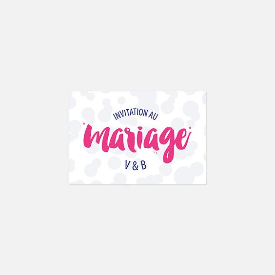 Visuel pour timbre  graphique, papeterie Un mariage à Memphis recto
