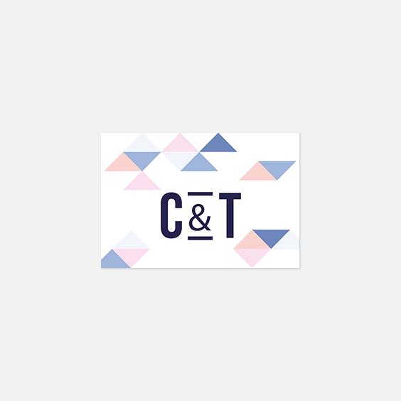 Visuel pour timbre  graphique, serenity, papeterie Sweet géometrie