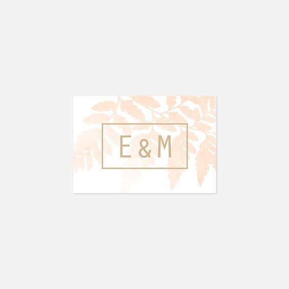 Visuel pour timbre  végétal, papeterie Organic recto