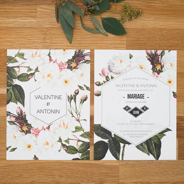 Favori Faire part de mariage fleur, Jardin botanique TM86