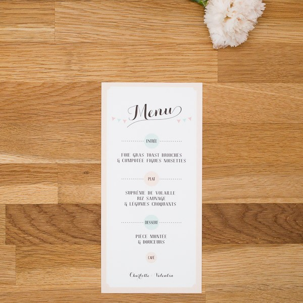 menu mariage vintage cg01 jornalagora. Black Bedroom Furniture Sets. Home Design Ideas