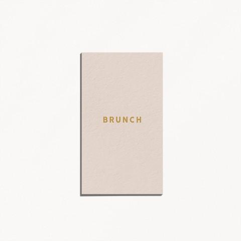 carton brunch de mariage celestine monogramme main mariés avec prénoms style minimaliste recto