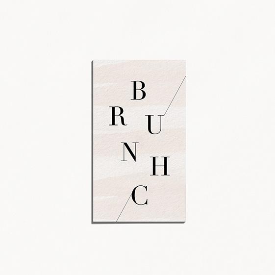 carton brunch de mariage graphique, moderne, Fleur, Aquarelle