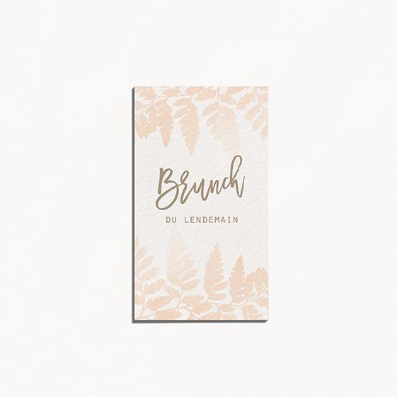 Brunch  végétal, naturel, papeterie Organic