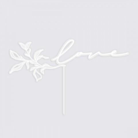 cake topper love mariage moderne natura