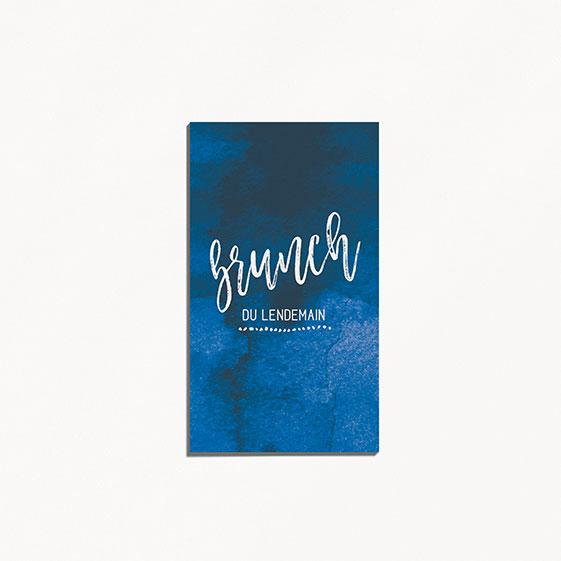Brunch graphique, voyage, papeterie Bleu Cyclades