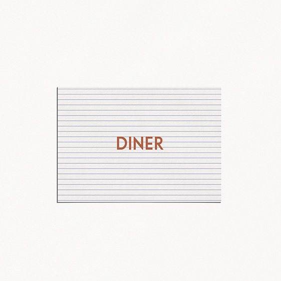 Carton diner  cuivre, chic, papeterie Copper