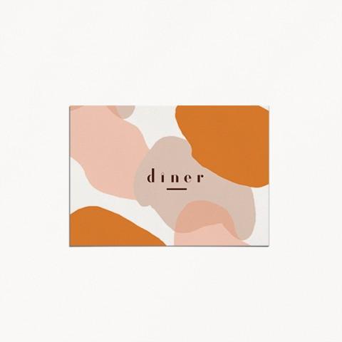 carton diner de mariage, matisse, illustration visage mariés moderne, minimaliste recto